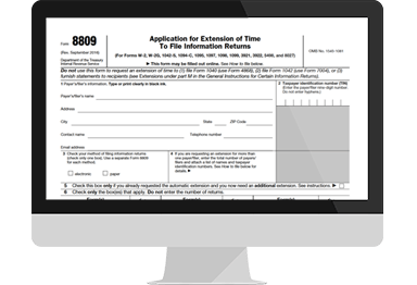 Extension Form 8809